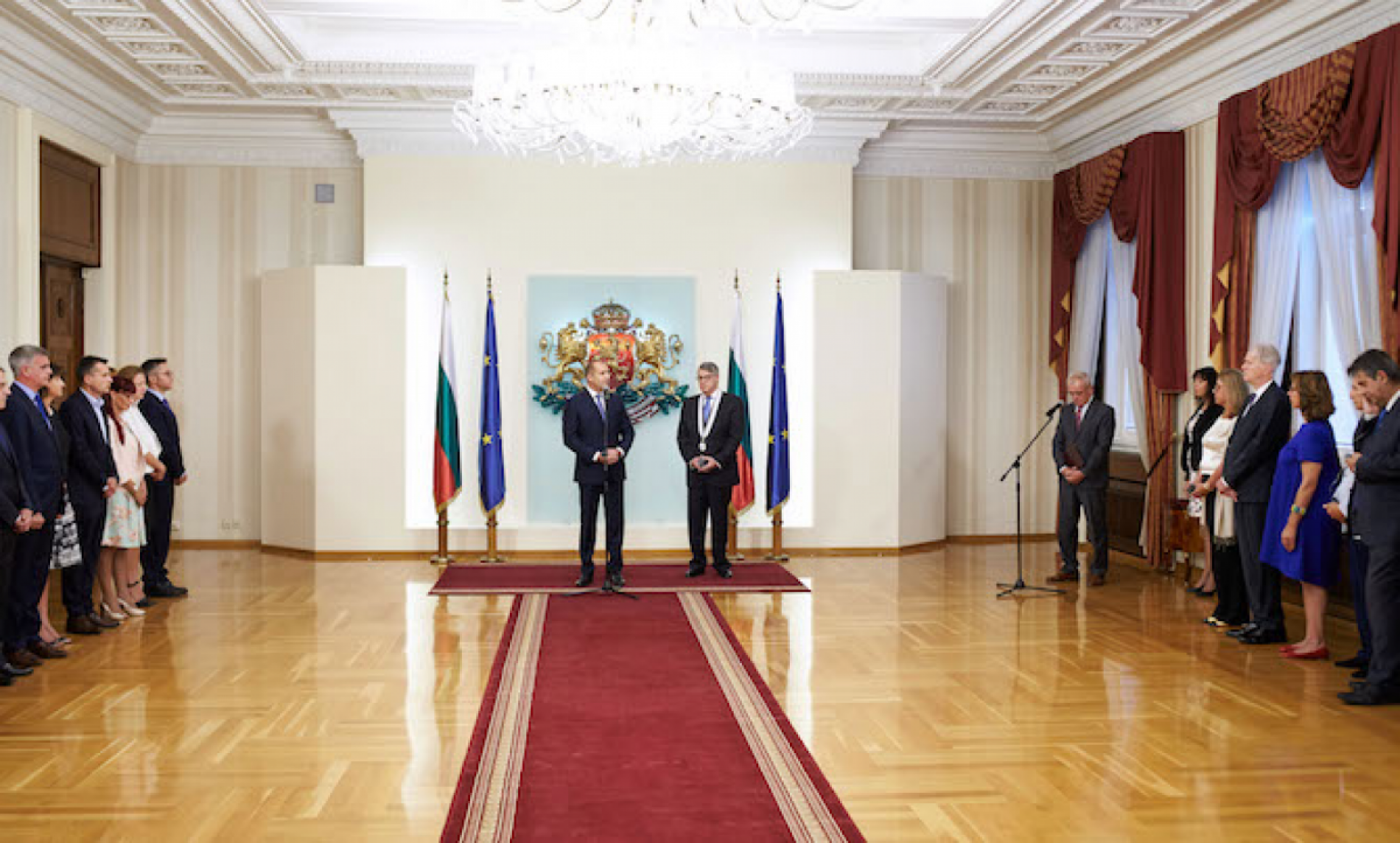 The President presented the Greek Ambassador with the Order of the First Degree