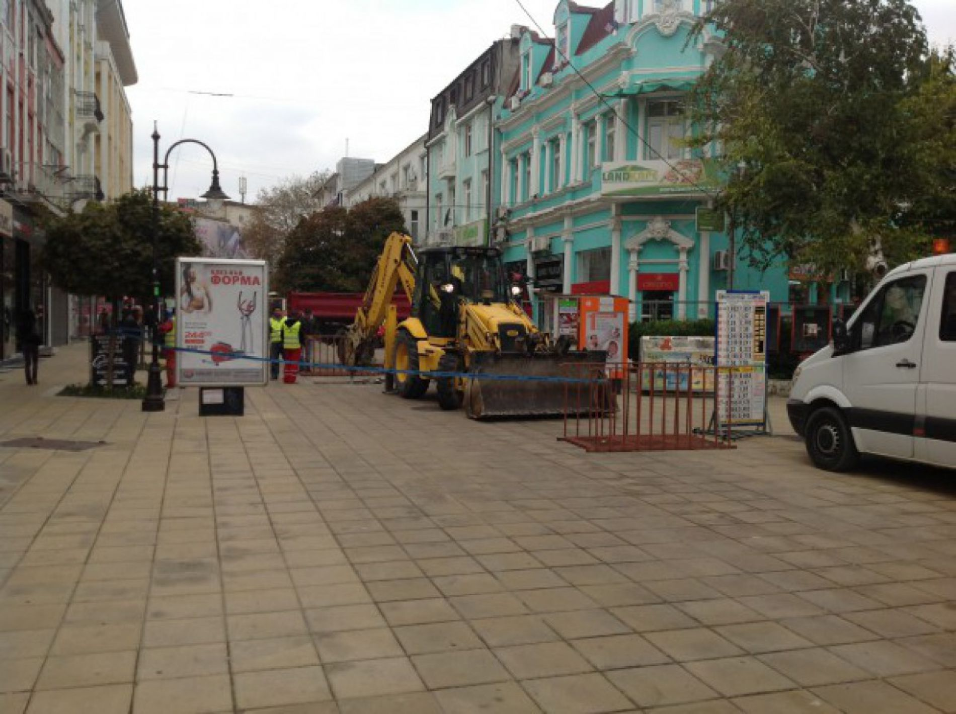Repair of pedestrian areas in Varna begins