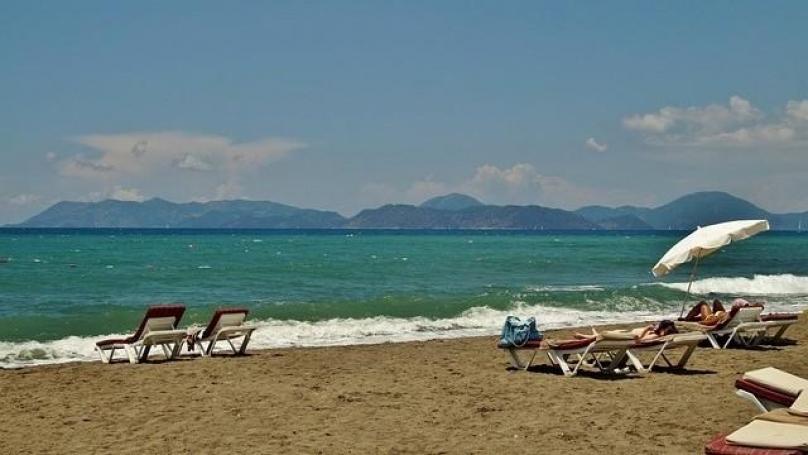 Beach near the Oasis complex in Ravda Bulgaria