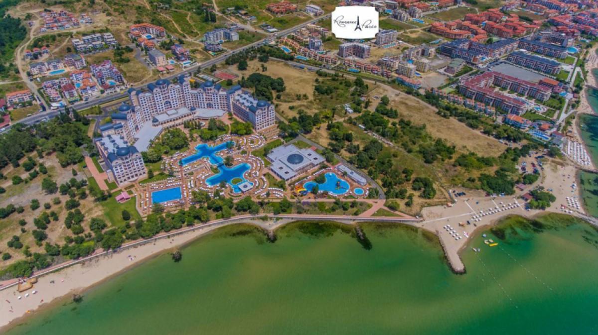 Location of the Romance Paris complex in Saint Vlas Bulgaria